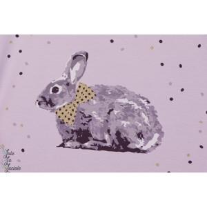Jersey Bio Lapin panneau lillestoff violet paillette