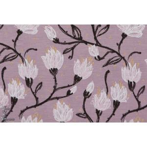 jersey viscose Modal Magnolia lillestoff susalabim fleur mauve