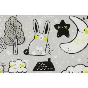 Popeline Toys Neutral jaune jouet bonne nuit enfant dessin animaux cotton steel