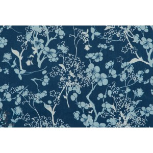 Voile batiste coton  Branch Silhouette Blue  branche bleu art gallery fabric agf