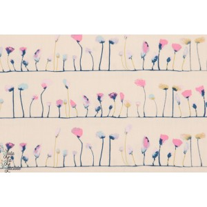 tissu coton Popeline Petal Flamingoes Ethereal art gallery graphic agf rose