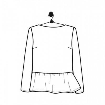 Patron Blouse SALOME top hait mode femme couture le laboratoire familial
