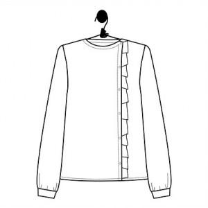 Patron blouse SCARLETT chemise chemisier top haut femme couture mode le laboratoire familial