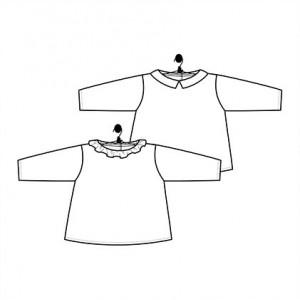 Patron MARGUERITE et BASILE blouse haut bébé couture laboratoire familial