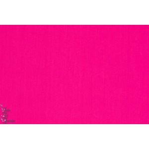 tissu coton Popeline Unie Soft Cactus rose
