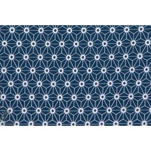 tissu coton Jersey Bio Stenzo Origami Bleu