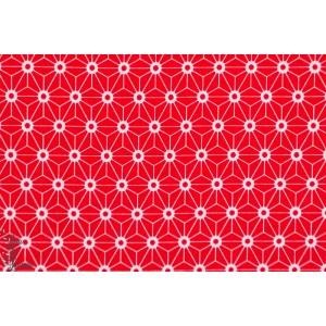 tissu coton Jersey Bio Stenzo origami rouge graphique couture femme