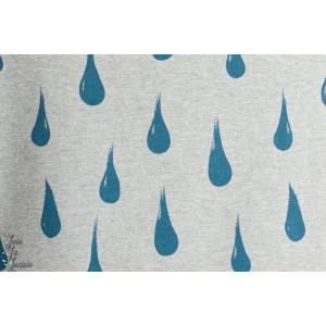 Sweat imprime Gouttes Regentropfen Design: Susanne Bochem/ SUSAlabim pour lillestoff