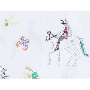 tissu coton Popeleine AGF horses - Anna Elise cheval art gallery fabrics