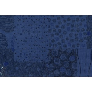 Double Gaze PATCH en bleu by Kokka coton graphique