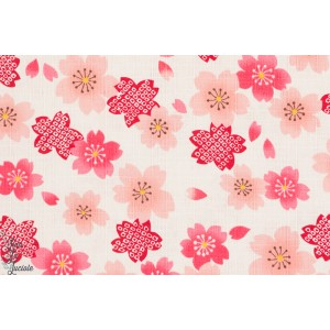 Popeline Sakura no Hana Rose Kokka
