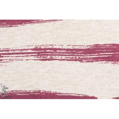 Sommersweat Brushed Stripes, cou de crayons viole lillestoff Susalabim