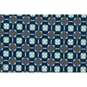 Jersey géométrique fleur bleu