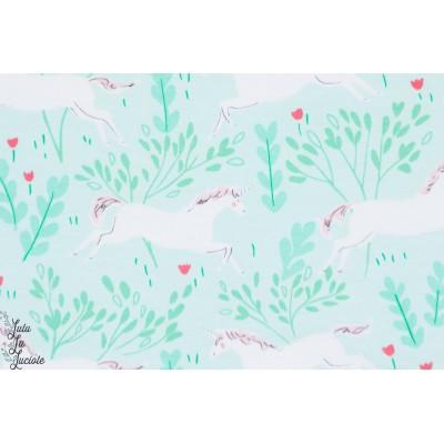 Jersey La forêt aux licornes aqua sarah jane michael miller magic