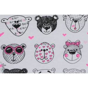 Jerseay Bears Pink - ours rose