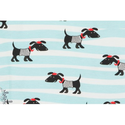 Jersey french Dog sur bande chien sur lign couture enfant