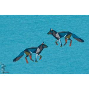 Jersey Loup en origami fond bleu
