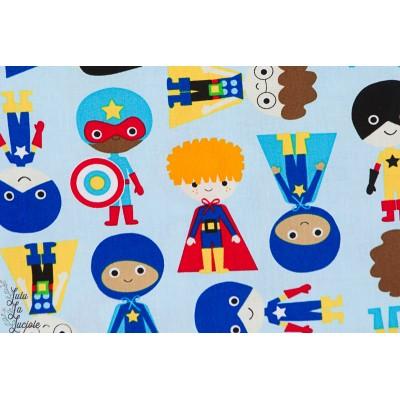Popeline Super Kids robert kaufman couture garçon