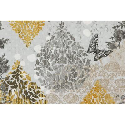 Popeline  Onyx Garden Allure 15432-181 gris or robert kaufman