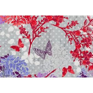 tissu coton Popeline Garden allure 15432-206 papillon Robert kaufman