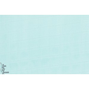 Double Gaze bambou Turquoise bleu clair