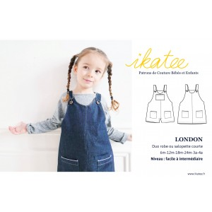 Patron duo salopette ou robe LONDON