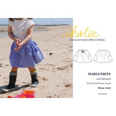 Patron couture enfant fille  jupe MARGUERITE 3-12 ans IKATEE