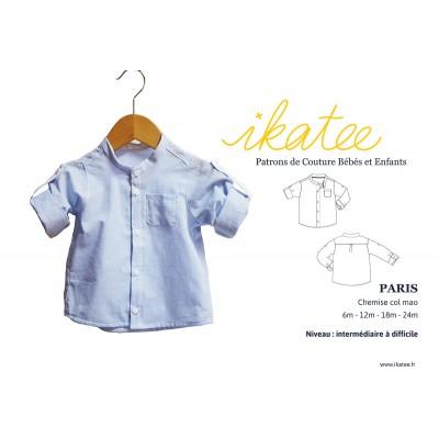 Patron chemise bébé col mao  PARIS