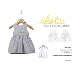 Patron robe bébé sans manche ROMA 6 - 24 mois IKATEE