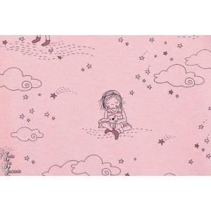 Jersey Bio Sterntaler, Rosa, petite fille dans la lune, Design : SUSALabim pour Lillestoff