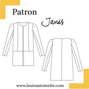 Patron couture veste JANIS manteau femme louis antoinette