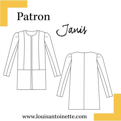 Manteau Patron Louis Couture Antoinette Janis Femme Veste qP60atrP