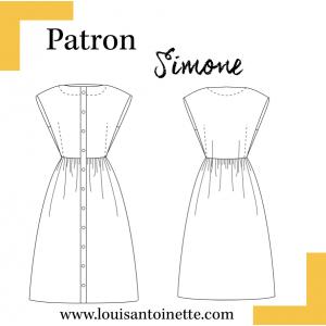 Patron couture femme mode robe SIMONE Louis et Antoinette