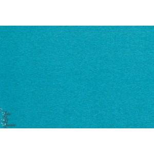 Jersey bio Lillestoff bleu turquoise chinée
