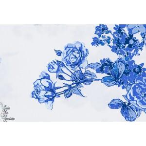 Popeline Bloesem Sweet Blue