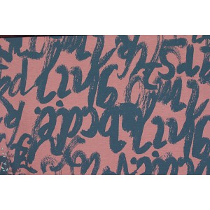 Modal Loveletters  viscose jersey lettres corail lillestoff