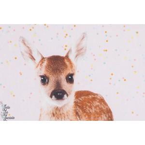 Panneau popeline coton bambi