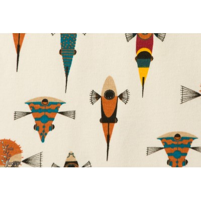 Jersey Bio Poissons by Birch Collection Charly Harper Maritime