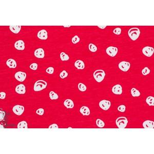 Jersey Bio berry confetti elvelyckan Design cerise pois rouge