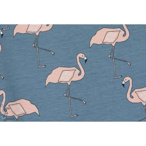 Jersey bio Flamingo Blue flamand rose bleu elveyckan design