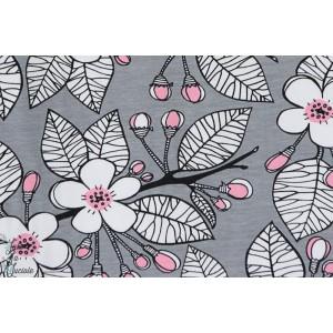 jersey bio Apple Garden gris fleur de pommier paapii