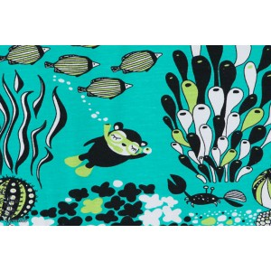 Jersey Bio Myyry the diver en turquoise Paapii fond des mers, plongeur paapii