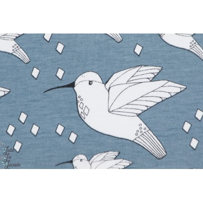 Jersey Bio Colibri Bleu ,BLUE HUMMINGBIRD de ELVELYCKAN DESIGN