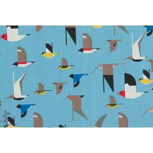 Popeline Bio Birch oiseaux marins Charley Harper