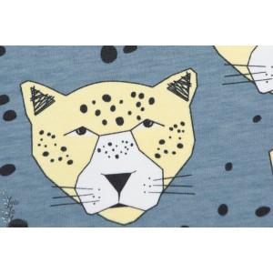 Jersey Bio Leopard Bleu