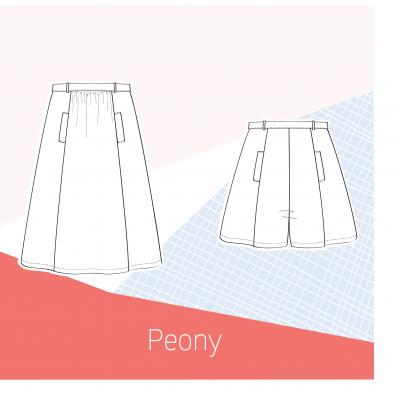 Patron jupe et jupe culotte PEONY Slow Sunday Paris couture mode femme