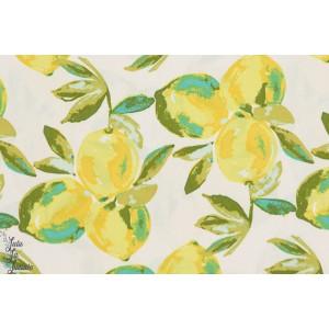 Popeline AGF Yuma Lemons Mist - citron -