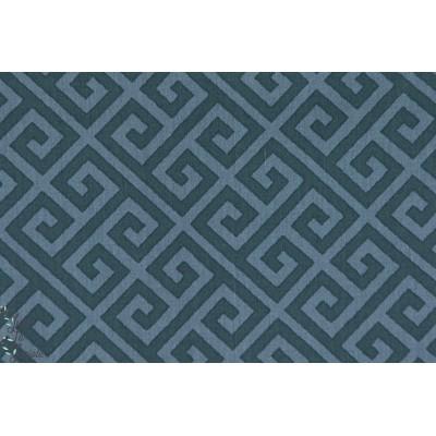 Popeline AGF Greka Sjouro art gallery fabric spokelos graphique bleu