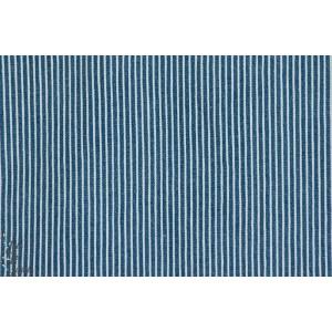 Jean Denin à rayure 2mm Bleu