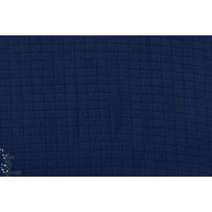 Mousseline de Bambou Marine Dunkelblau bleu lillestoff formig couture femme